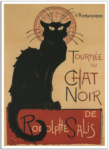 TOURNEE DU CHAT NOIR by T. Steinlen 1896 - France - Vintage French Poster-Poster-Elysiumprints