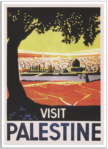 VISIT PALESTINE Travel Poster by Franz Kraus 1936 -Poster-Elysiumprints