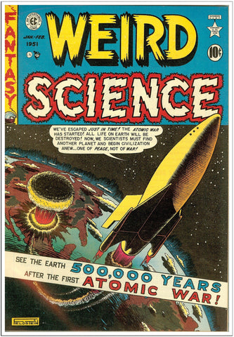 Weird Science - Sci-Fi Comic Book Cover - Jan 1951-Poster-Elysiumprints