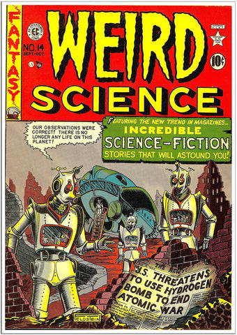 Weird Science - Sci-Fi Comic Book Cover - Sep 1949-Poster-Elysiumprints