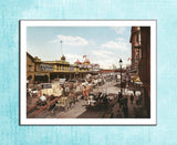 West Street New York - US Streets Scene - Vintage re-print - 1901-Poster-Elysiumprints