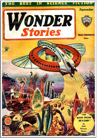 Wonder Stories - Sci-Fi Comic Book Cover - Sept 1950-Poster-Elysiumprints