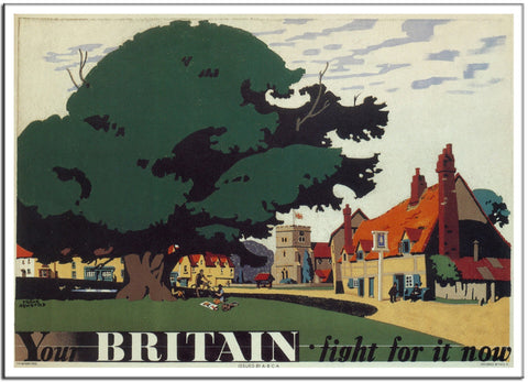 YOUR BRITAIN. FIGHT FOR IT NOW by Frank Newbould 1942 - Vintage Print-Poster-Elysiumprints