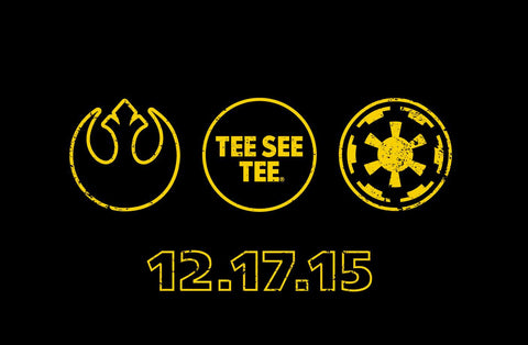 Star Wars: The Force Awakens Exclusive Premiere, only with the purchase of the t-shirt from Tee See Tee!