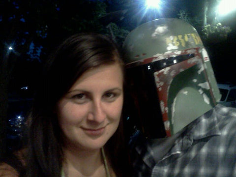 My wife and I at the Traverse City Film Fest, where Empire Strikes Back was playing outdoors.