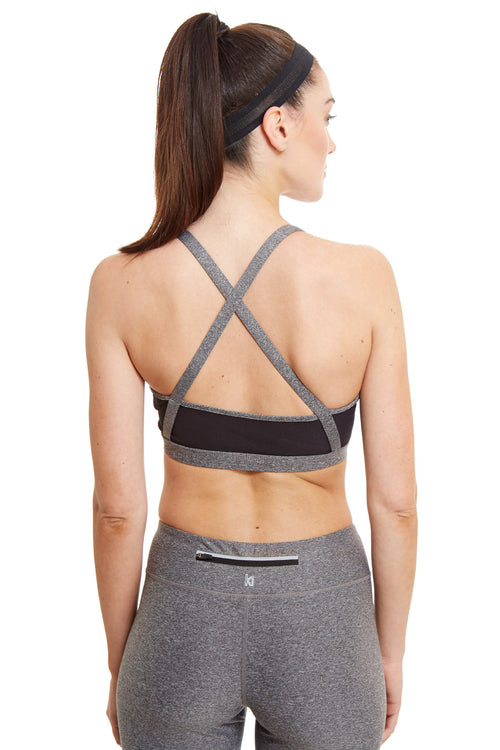 X-Cross Straps Sports Bra / Heather Grey