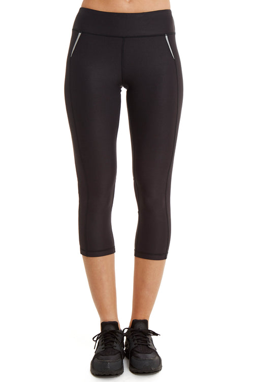 Performance Capri with Mesh Leg / Black