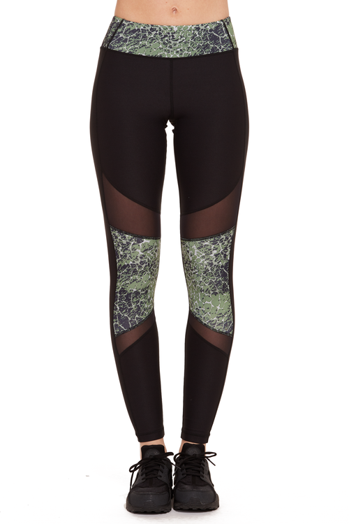 Printed Power Mesh Performance Legging