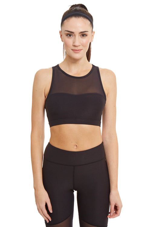 Ki Pro Women's Power Mesh Sports Bra / Black