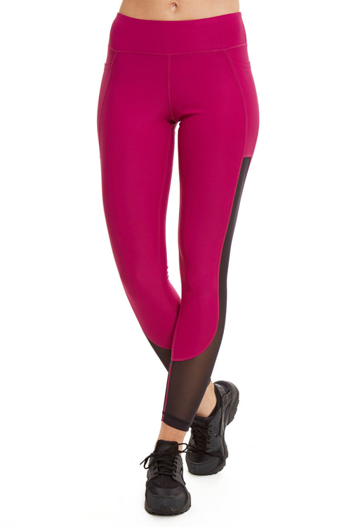 Power Mesh Performance Legging / Dahlia