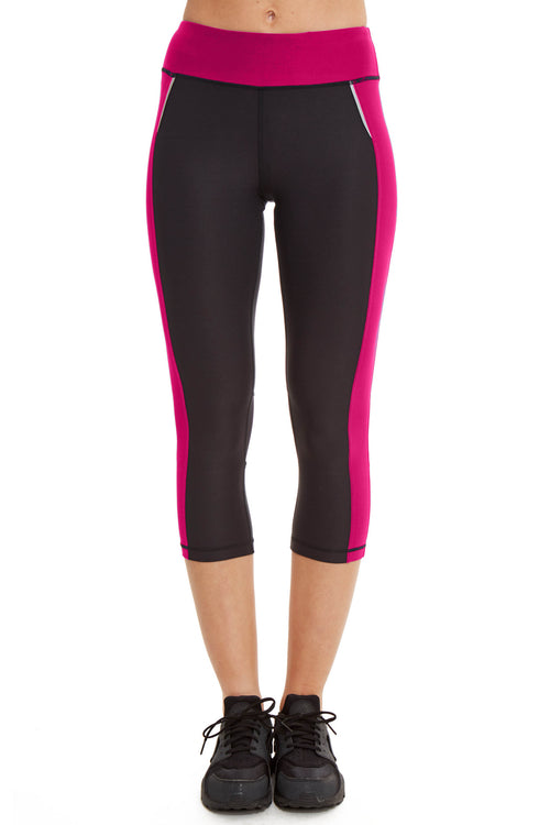 Performance Capri with Mesh Leg / Dahlia