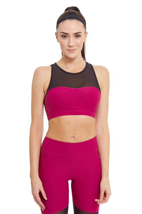 Power Mesh Sports Bra / Dahlia
