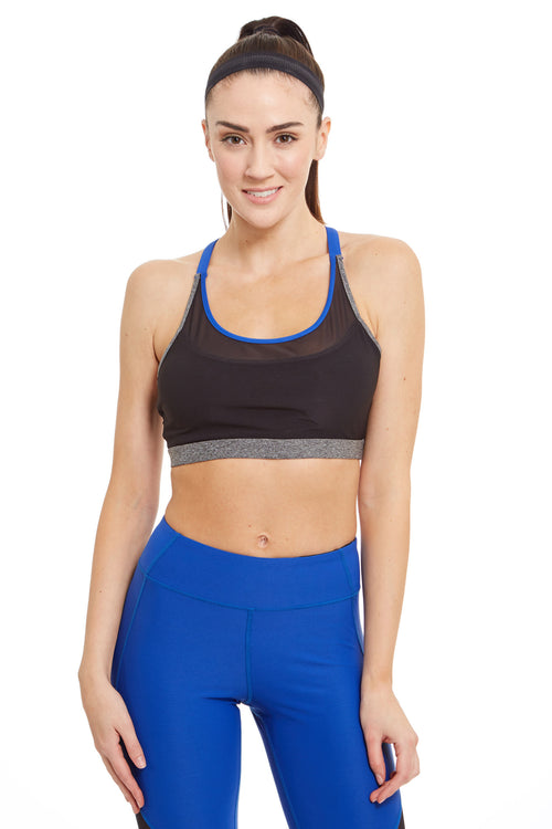 X-Cross Straps Sports Bra / Electric Blue