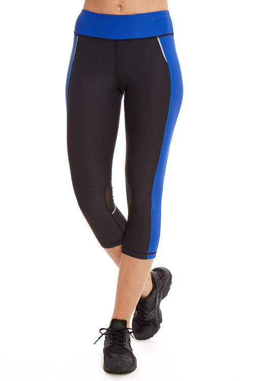 Performance Capri with Mesh Leg / Electric Blue