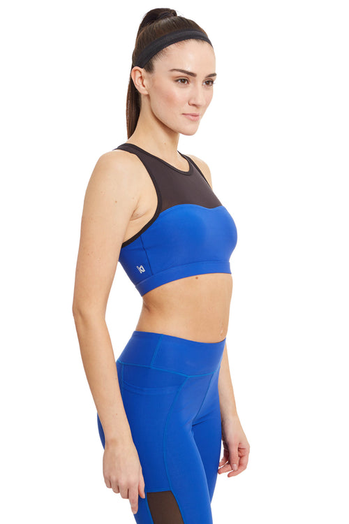 Ki Pro Women's Power Mesh Sports Bra / Electric Blue