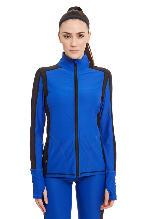 Long-Sleeve Mesh Performance Jacket / Electric Blue