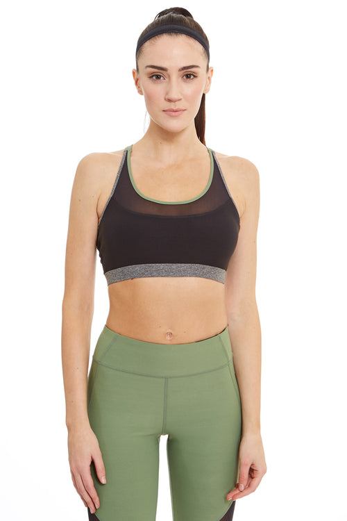 X-Cross Straps Sports Bra / Sage