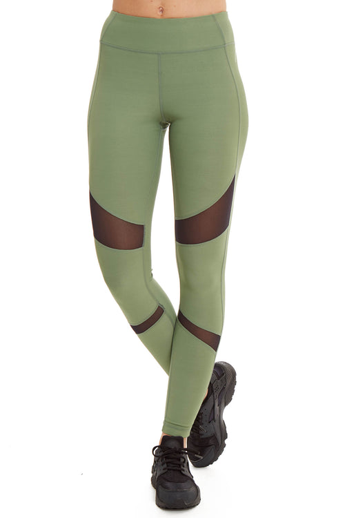 Sage Power Mesh Performance Legging
