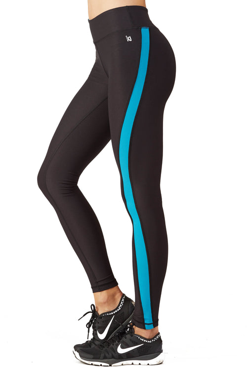 Tidal Wave Color Blocked Performance Legging