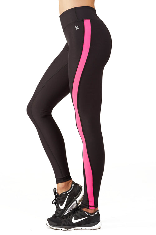 Ki Pro Women's Color Blocked Performance Legging in Pink Sunset