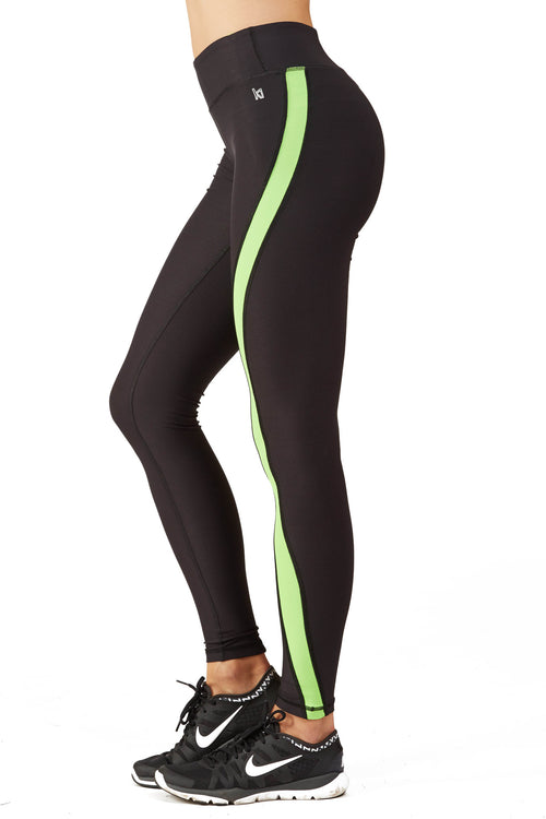Ki Pro Women's Color Blocked Performance Legging in Ki Lime