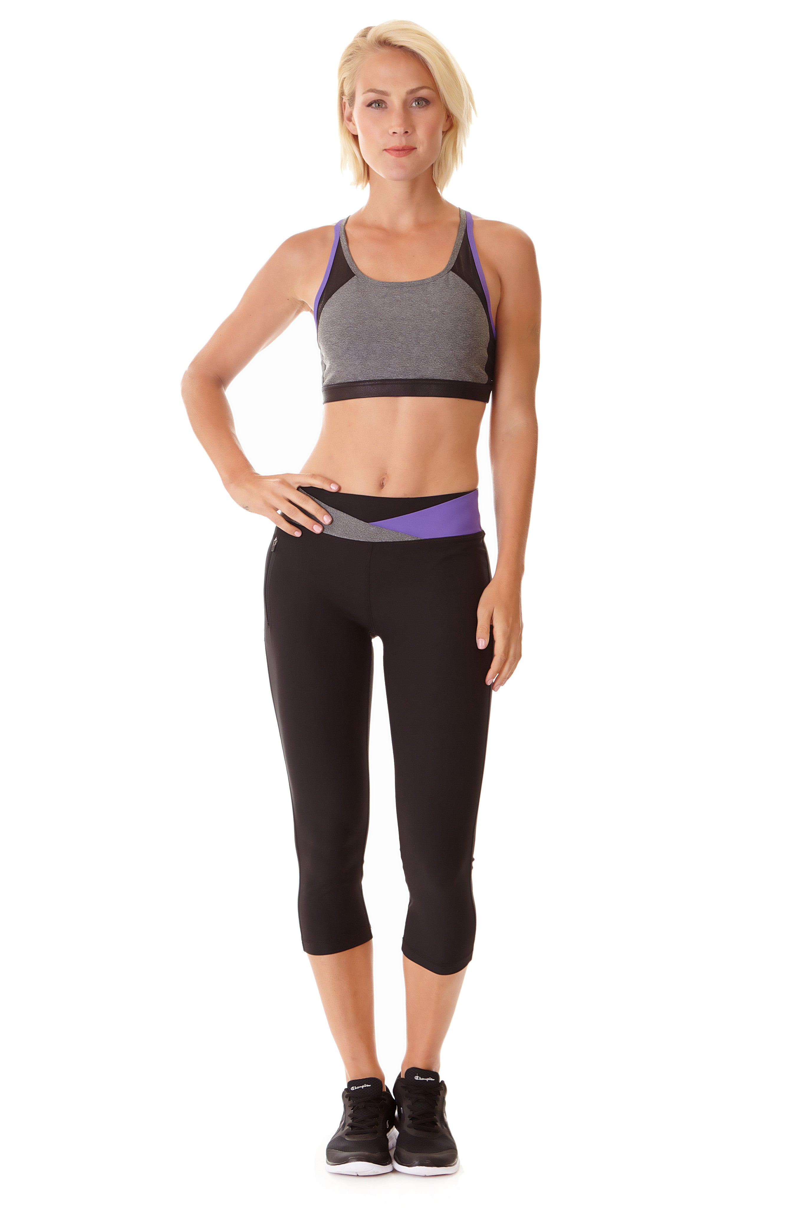 Ki Pro Women's Performance Capri - PURPLE