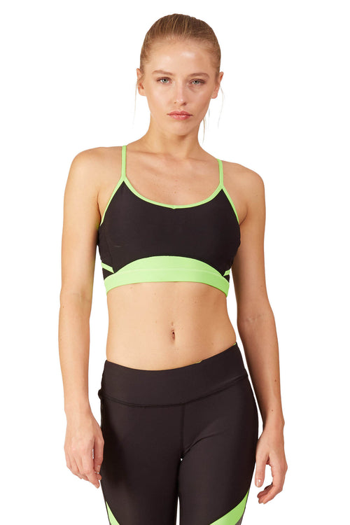 Ki Pro Women's Neon Sports Bra / Ki Lime