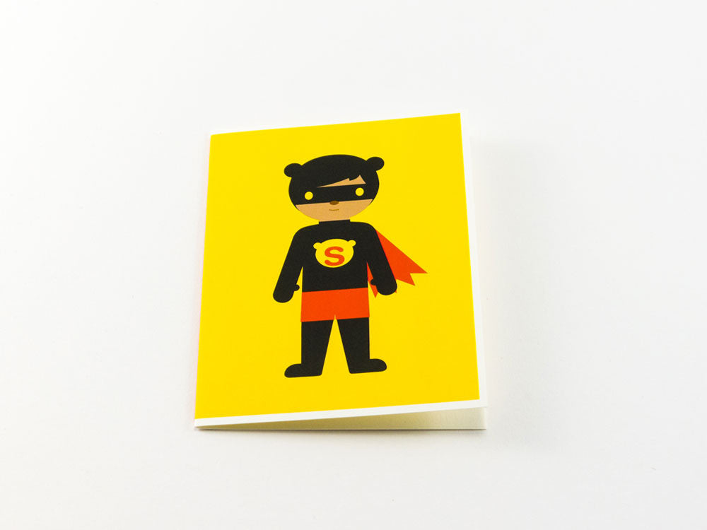 toyhood store's superbear greeting card from dicky bird
