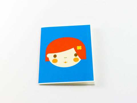 toyhood store's red girl greeting card from dicky bird