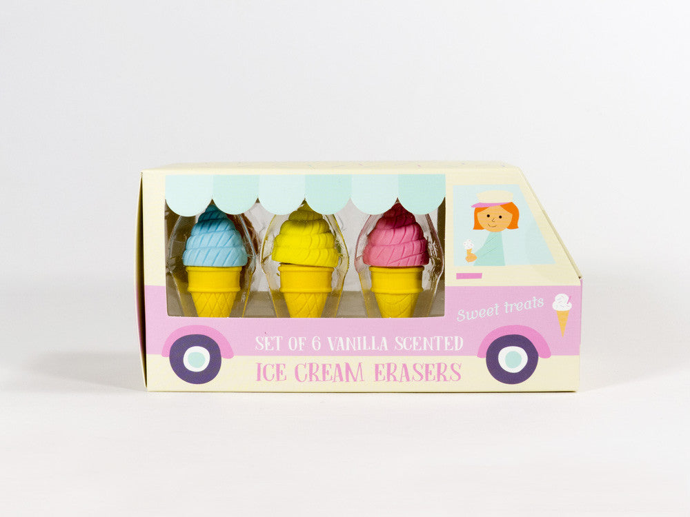 Scented Ice Cream Shaped Erasers