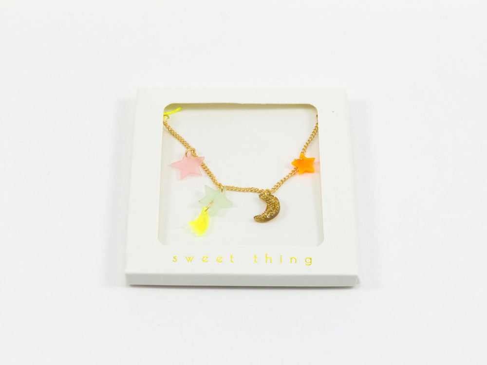 toyhood store's stars and moon necklace by meri meri