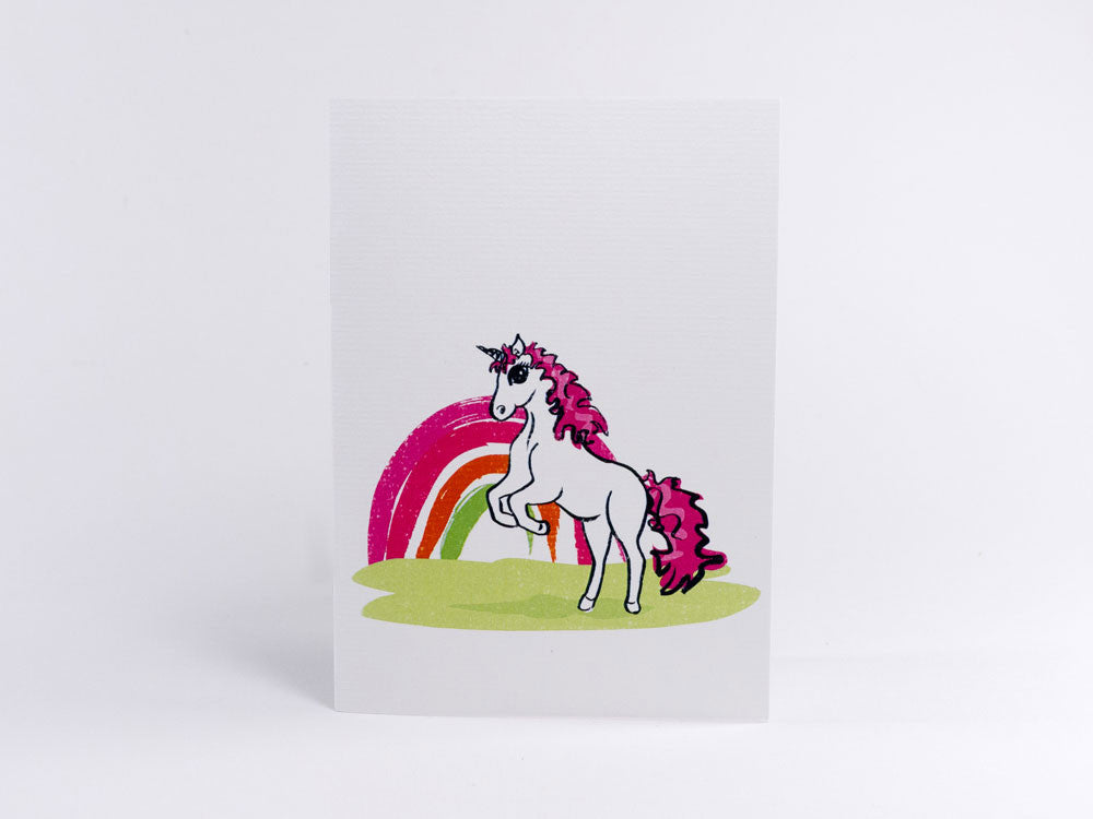 toyhood store's rainbow robyn greeting card by peppy chow