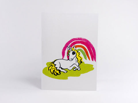 Rainbow Alice Unicorn Greeting Card