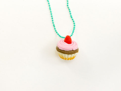 toyhood store's cupcake necklace by pop cutie