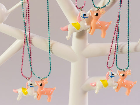 toyhood store's fairytale bff necklace by pop cutie