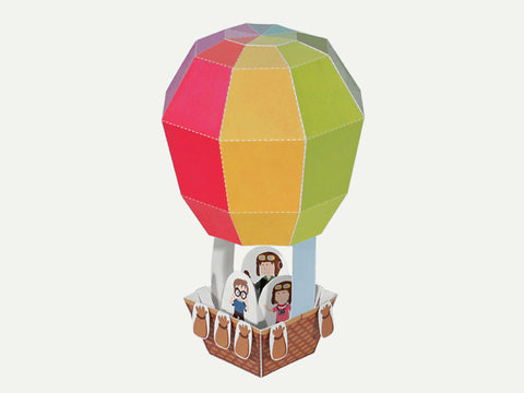 3D Hot Air Balloon Paper Toy