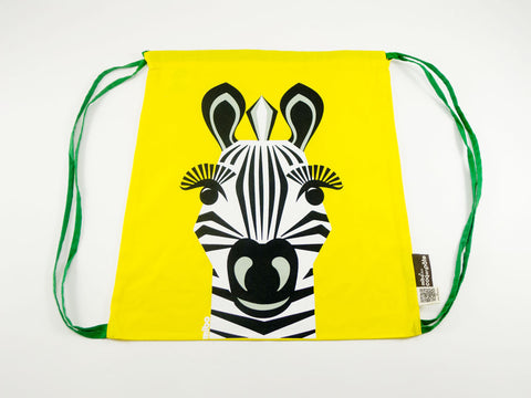 Zebra Drawstring Kit Bag