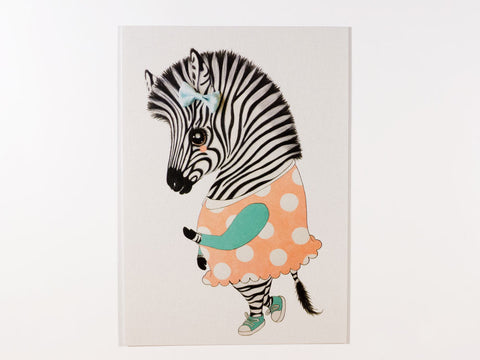 Ella the Zebra Postcard with Envelope