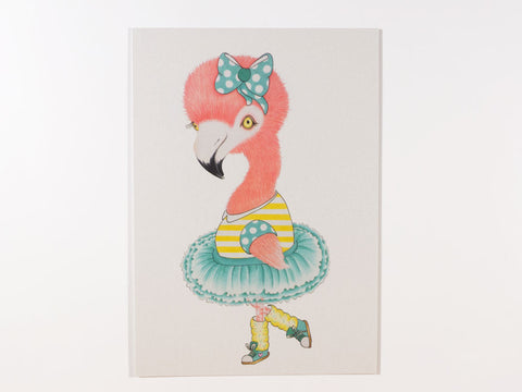 Froukje the Flamingo Postcard with Envelope