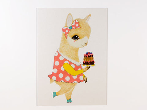 Amalia the Alpaca Postcard with Envelope