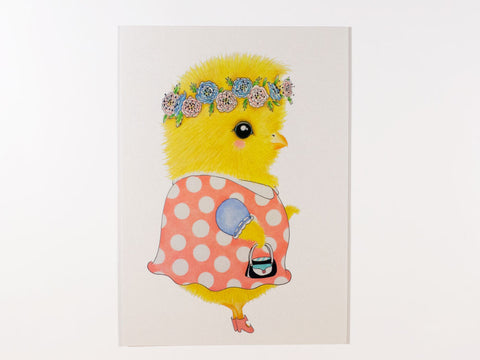Lois the Chick Postcard with Envelope
