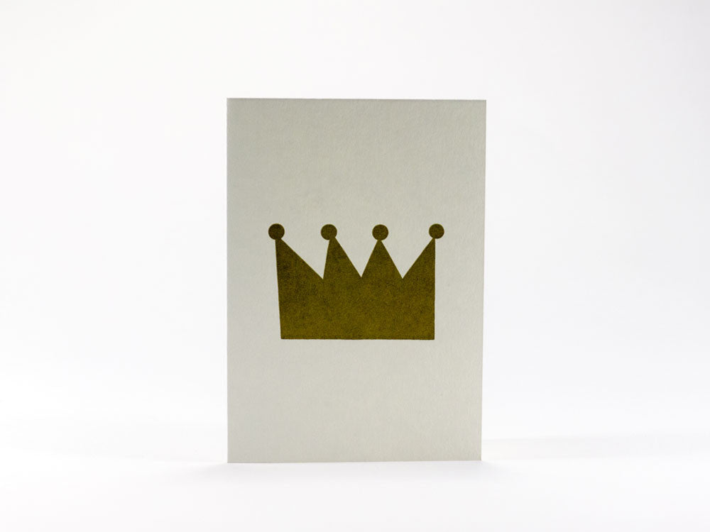 toyhood store's bits and bots crown mini greeting card by 1973