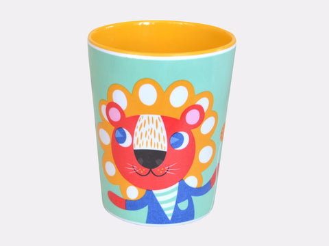 Melamine Mint Lion and Tiger Cup