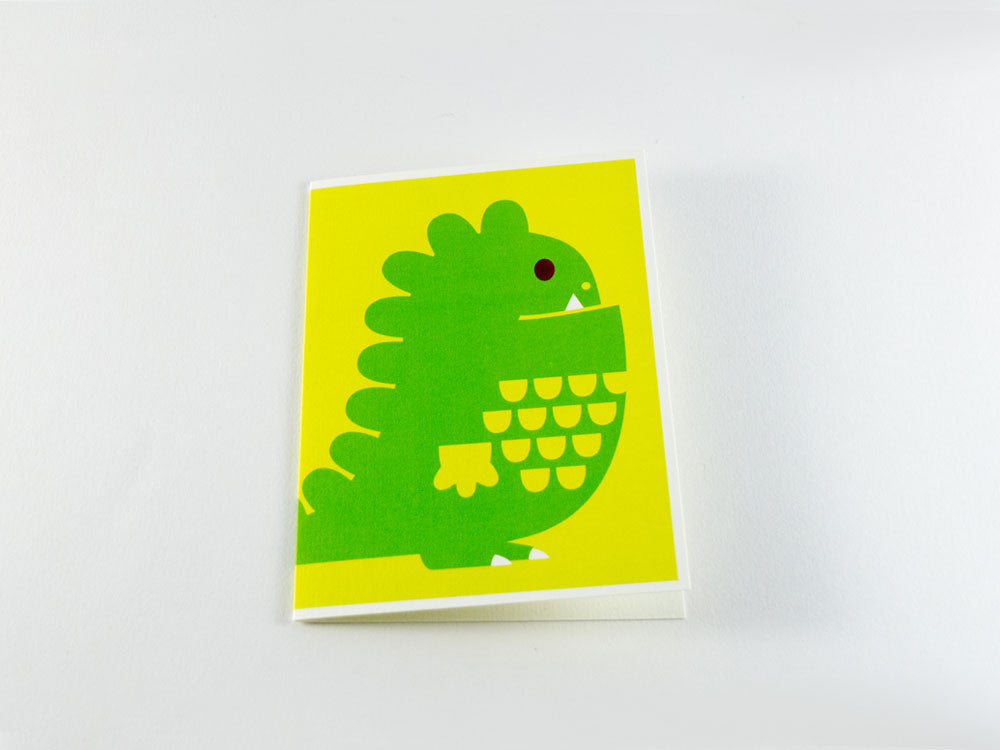 toyhood store's dinosaur greeting card from dicky bird