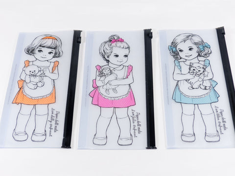 toyhood store's paper doll mate clear pouch by I'm afrocat