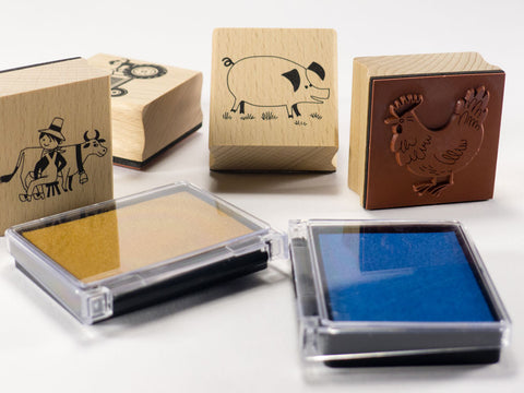 toyhood store's farmyard stamp set by alain gree