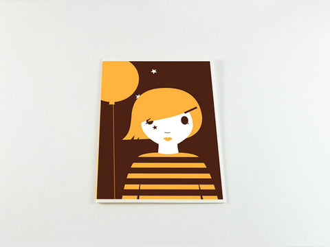 toyhood store's brown girl greeting card from dicky bird