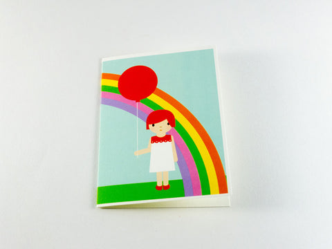 Girl & Balloon Greeting Card