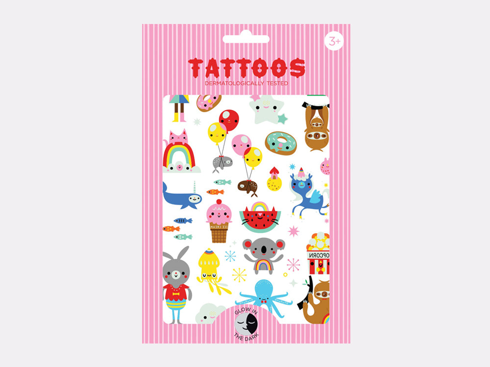 toyhood store's glow in the dark koala tattoos by petit monkey