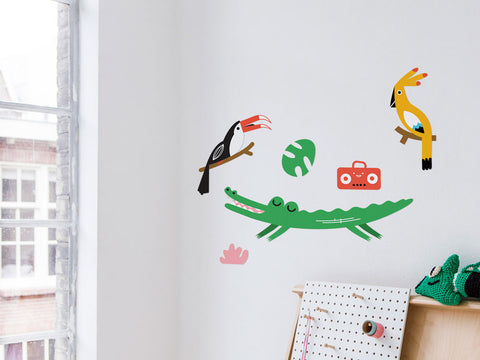 toyhood store's jungle wall sticker pack by makii